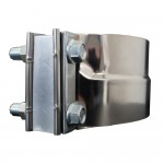 """Chromed Stainless Steel Clamp, 5"""" Diameter, Universal Application, With Spacer"""