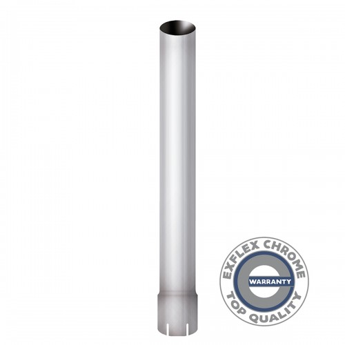 """Straight Stack 6"""" Diameter, 108"""" Long, Chrome Flared End, 5"""" ID"""