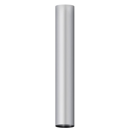 "Aluminized Straight Tubing, 4""  Diameter, UNIVERSAL  Application, 4"" X 36"" Length"