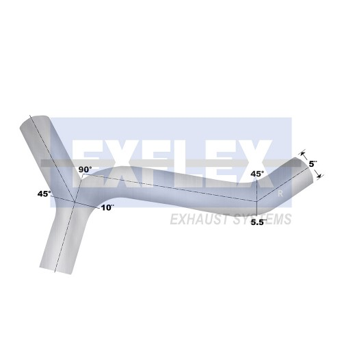"Aluminized Y Section, 5""  Diameter, KENWORTH T800/ T600B  Application"