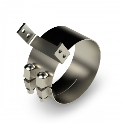 "Stainless Steel Chrome Clamp, 6"" diameter, Kenworth Aero"