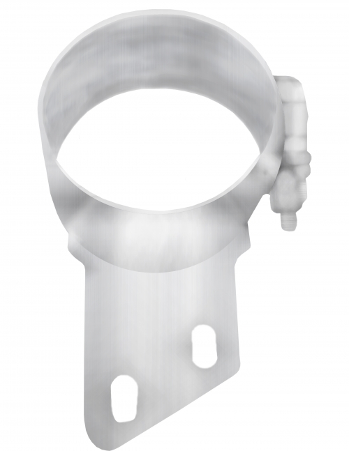 """Stainless Steel Clamp, 5""""  Diameter, UNIVERSAL  Application, With Angled Bracket"""