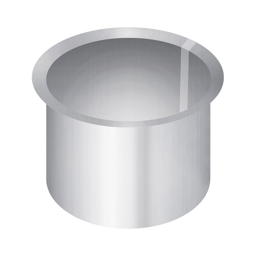 "Aluminized Coupler, 3.5""  Diameter, UNIVERSAL  Application, 3 1/2"" FLARED CONNECTOR"