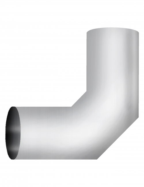 "Aluminized Elbow, 5""  Diameter, UNIVERSAL 90° Sectioned Application, 5"" OD X 5"" OD 11"" X 11"" Length"