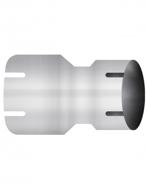 "Aluminized Coupler, 5""  Diameter, UNIVERSAL  Application,  5"" ID X 4"" ID, 8"" Length"
