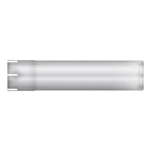 "Straight Stub, 4"" Diameter, 17 3/4"" Long, Aluminized, Flared End"