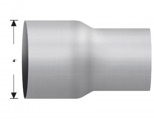 "Aluminized Coupler, 4""  Diameter, UNIVERSAL  Application, 4"" OD X 3"" OD, 8"" Length"