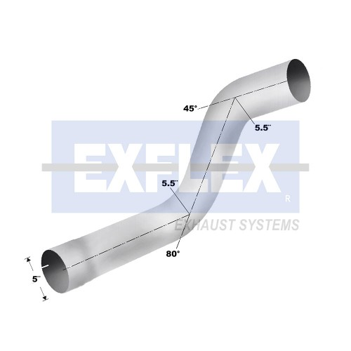 "Aluminized Elbow, ""  Diameter, VOLVO  Application, OEM Elbow"