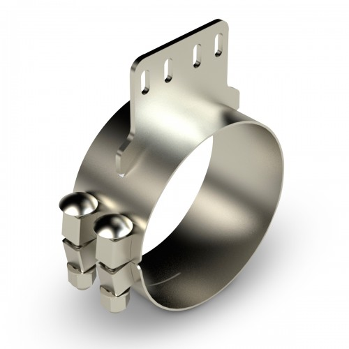 "Stainless Steel Chrome Clamp 4 holes, 7"" diameter, Kenworth"