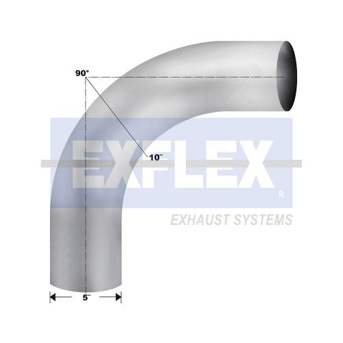 "Aluminized Elbow, 5""  Diameter, UNIVERSAL 90° Radius 10 Application, 5"" OD X 5"" OD 13"" X 13"" Length"
