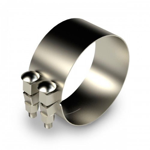 """Chromed Stainless Clamp, 6""""  Diameter, UNIVERSAL  Application, Without Bracket"""
